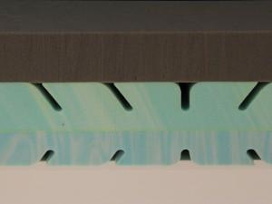 Kaltschaumkern mit Profilschnitten quer zur Liegerichtgung