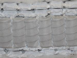 Tonnen-Taschenfederkern mit jeweils zwei Lagen Mikrofedern